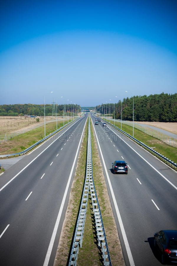 two-lane highway royalty free stock photos