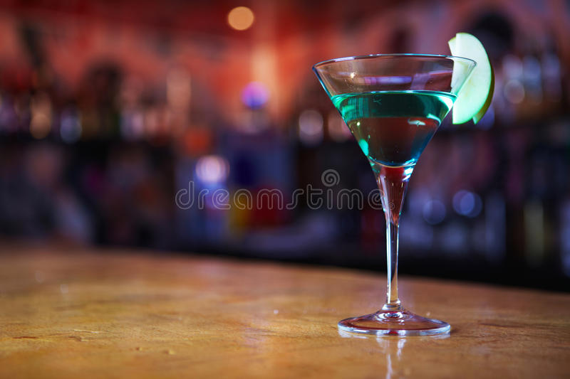 Two-layer cocktail royalty free stock photo