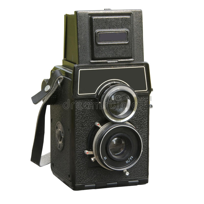 Two lens photo camera royalty free stock photography