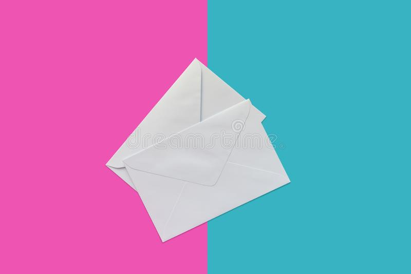 Two letter envelopes royalty free stock photo