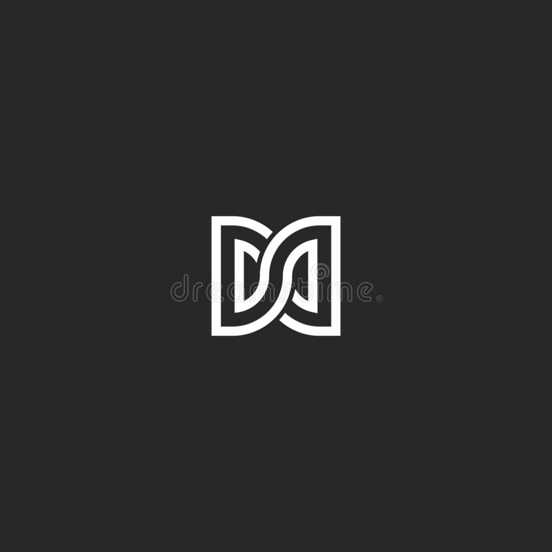 Free Two Letters DD Initials Logo Monogram, Combination Letters D And D Mark Infinity Shape Symbol Stock Photos - 141062623