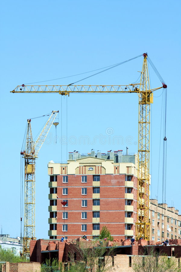 Two Lifting Cranes 2 Royalty Free Stock Image