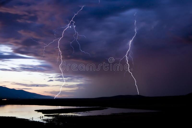 Download Two Lightning Strikes stock image. Image of instantaneous - 20767051