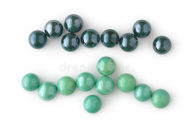 Two Lines Of Marbles Stock Photos
