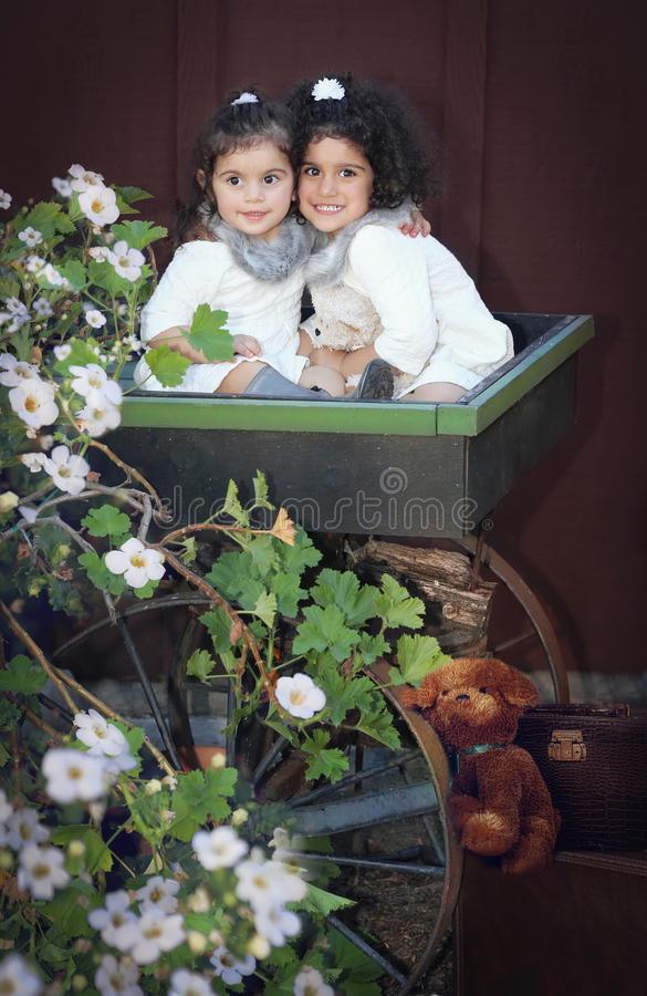 Two little angels royalty free stock image