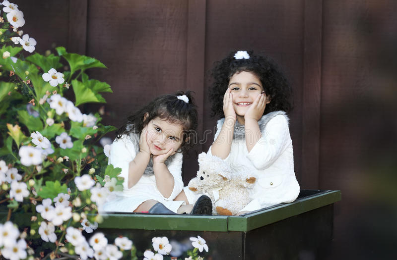 Two little angels royalty free stock photography
