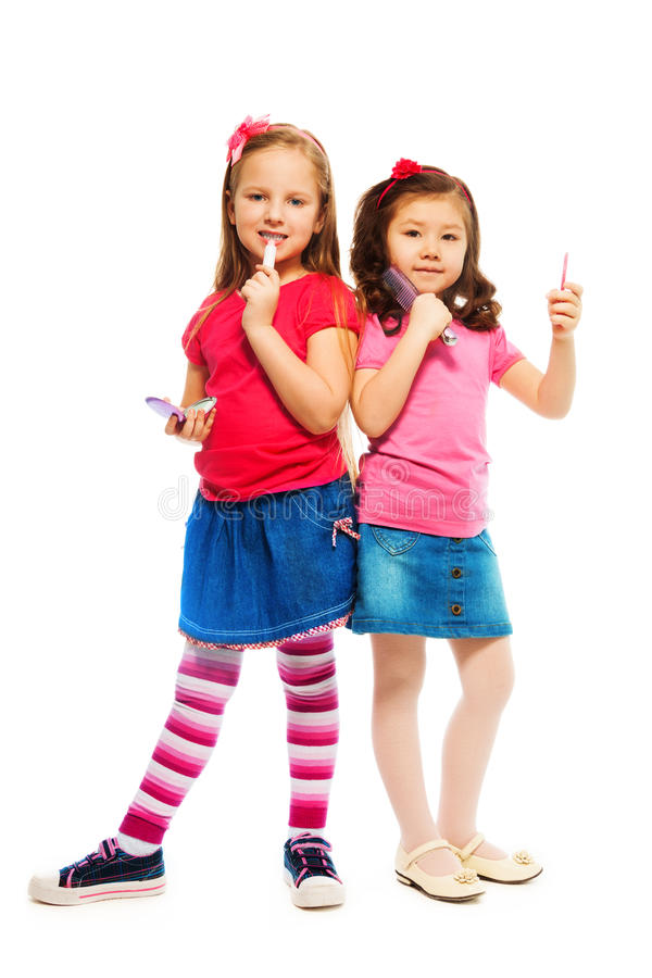 Download Two little big girls stock image. Image of fashion, bright - 30704299