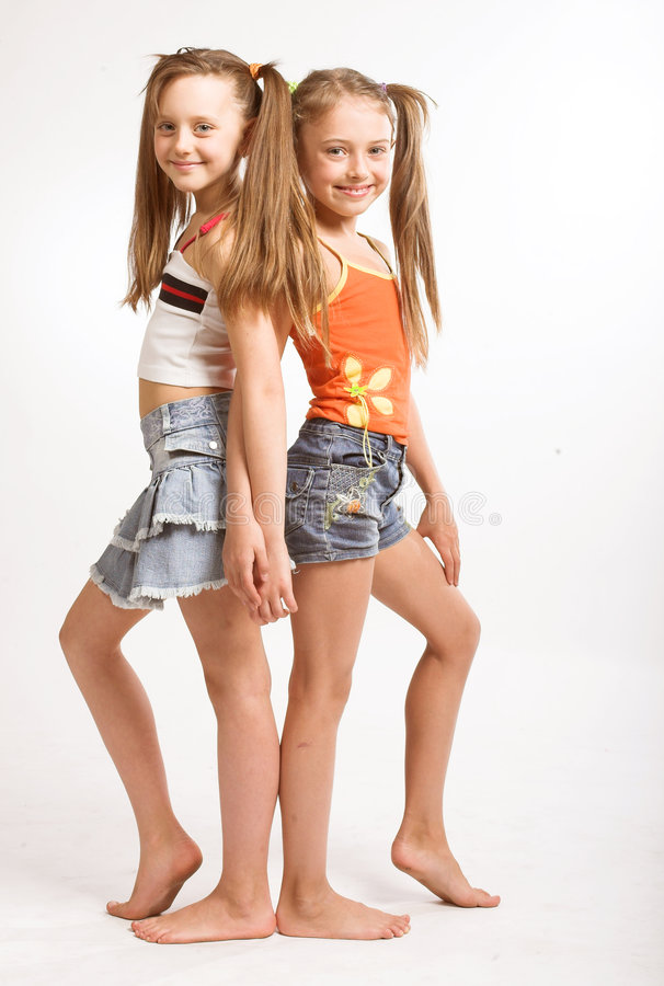 Two little blond girls royalty free stock image