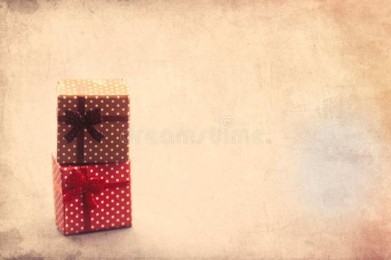 Two Little gift boxes royalty free stock photos