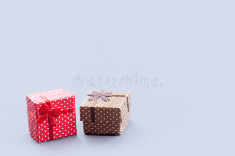 Two Little gift boxes royalty free stock image