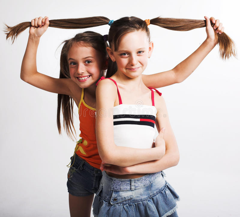 Download Two Little Girls Stock Photo - Image: 12299580