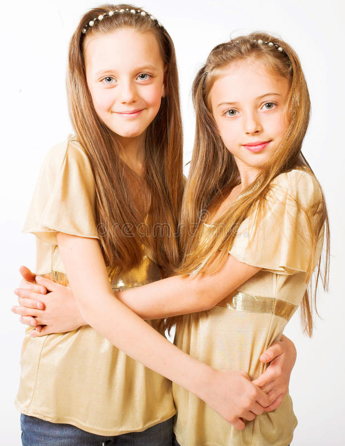 Download Two little girls stock image. Image of happy, beautiful - 14361615