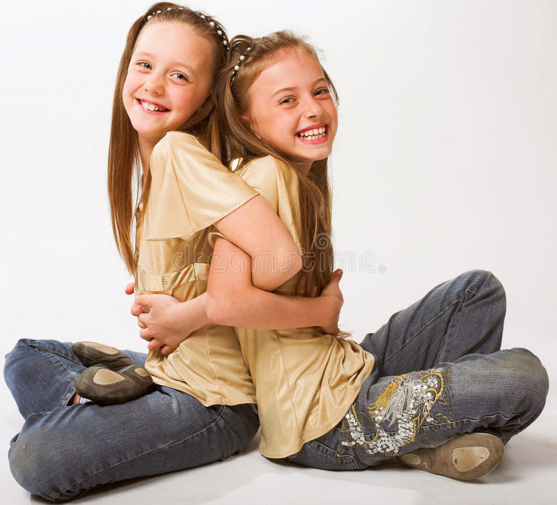 Two little girls royalty free stock photo