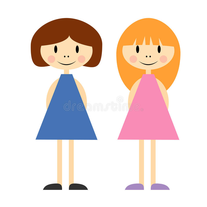 Download Two little girls stock vector. Image of child, little - 19031082