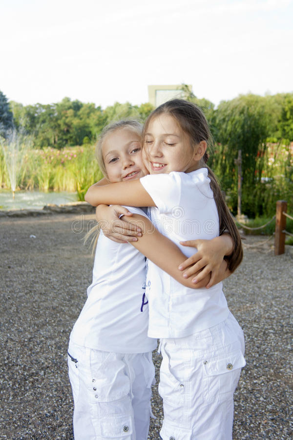 Download Two little girls stock photo. Image of friendship, urban - 20827536