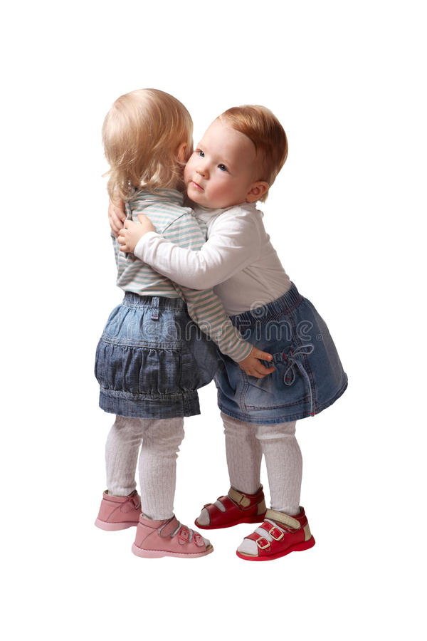 Download Two Little Girls Twin Sister Stock Image - Image of children, white: 17914257