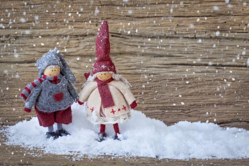 Download Two Little Santa Decoration Stock Photo - Image: 27077710