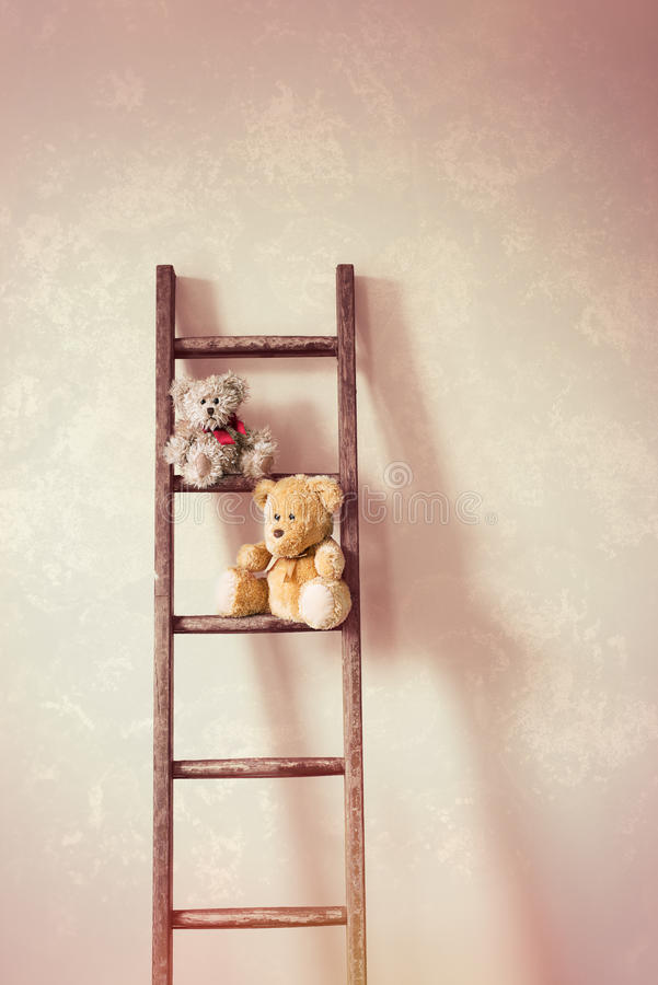 Free Two Little Teddy Bears Royalty Free Stock Images - 66856839