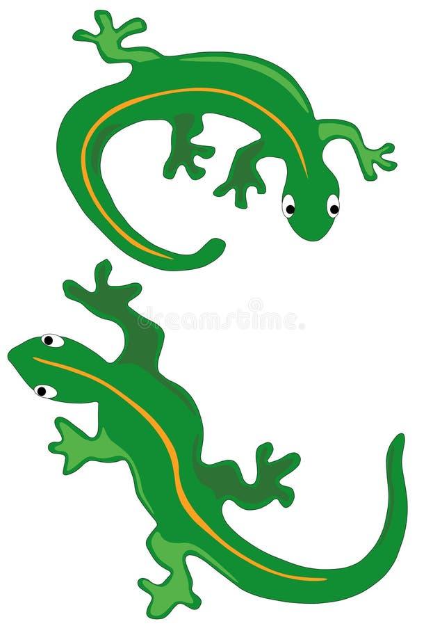 Two Lizards stock illustration