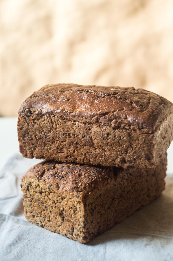 Two loaves of rye bread royalty free stock photography