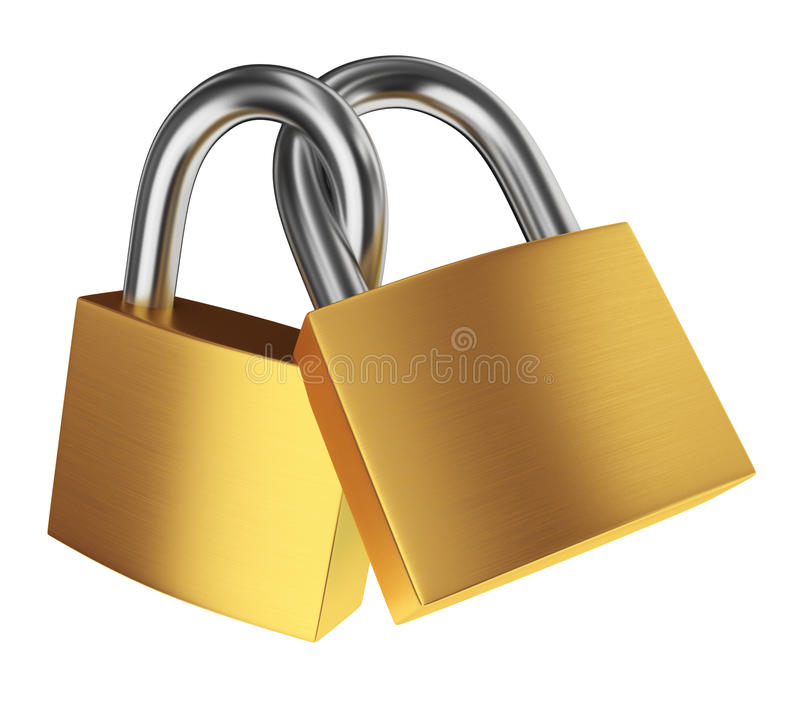 Two locks stock illustration