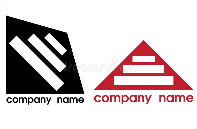 Two Logos In Black And Red Stock Image