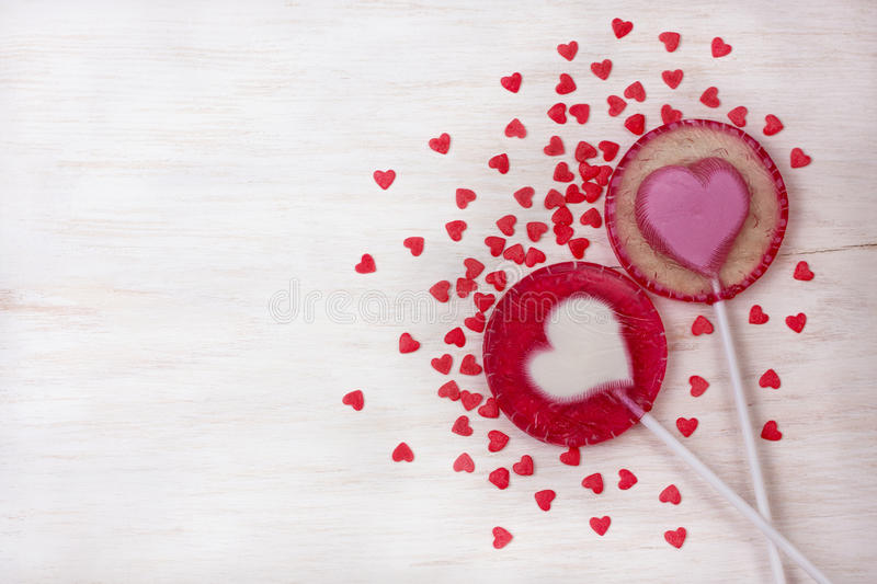 Download Two lollipop-heart stock photo. Image of sweet, color - 83702374
