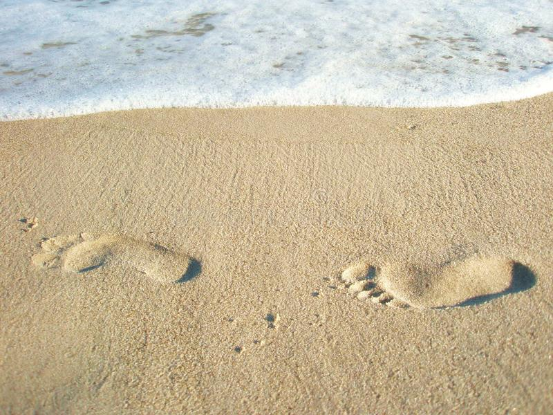 Download Two Lonely Footprints In The Sand Stock Image - Image: 16084863