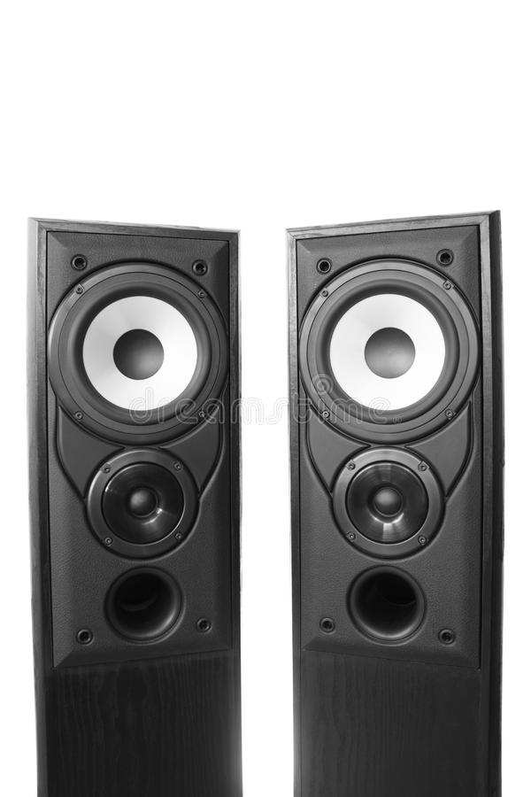 Download Two loudspeakers stock image. Image of technology, musical - 17715835