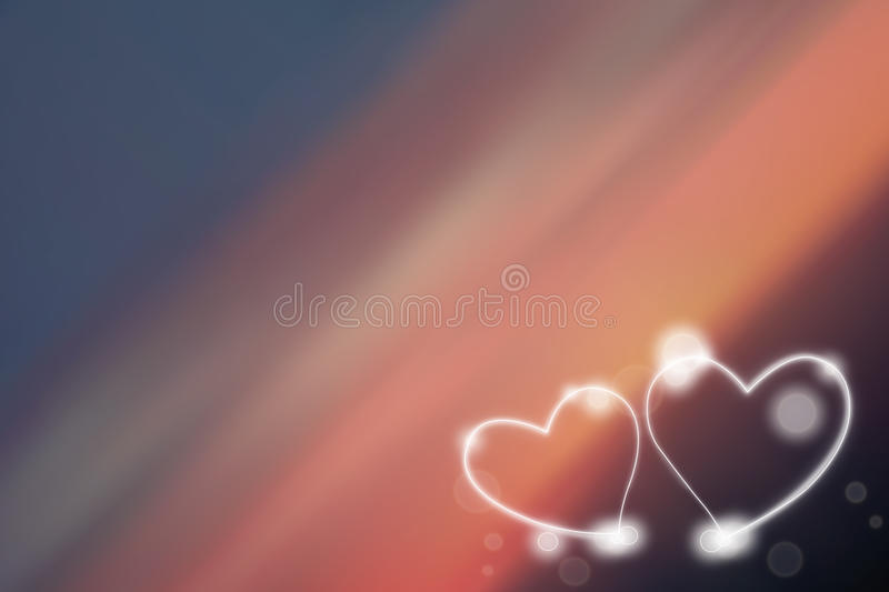 Two love Heart royalty free illustration