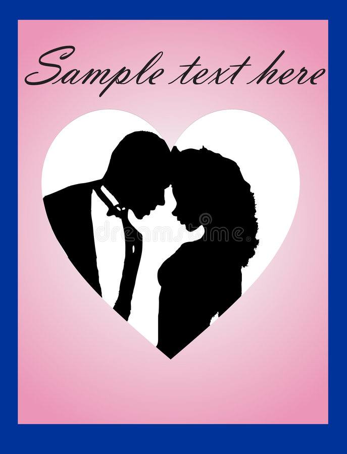 Two lovers vector illustration