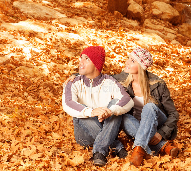 Download Two Lovers In The Forest Royalty Free Stock Images - Image: 27371649