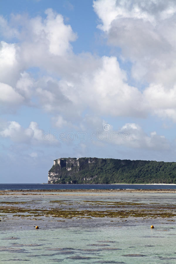 Two lovers point in Guam. Micronesia royalty free stock image