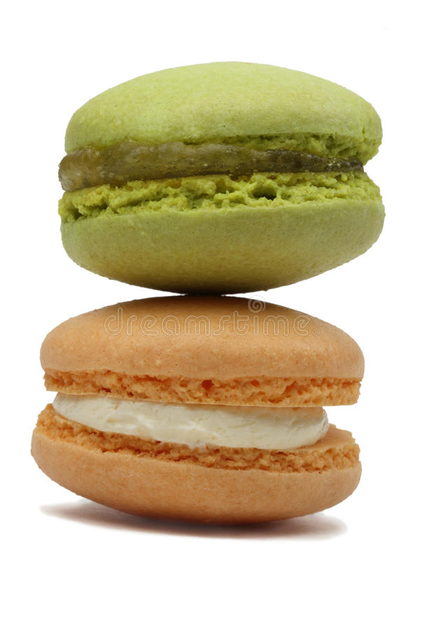 Download Two Macarons stock photo. Image of cuisine, isolated - 28137924