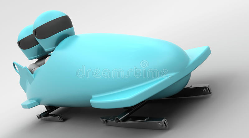 Two Man Bobsleigh Royalty Free Stock Image