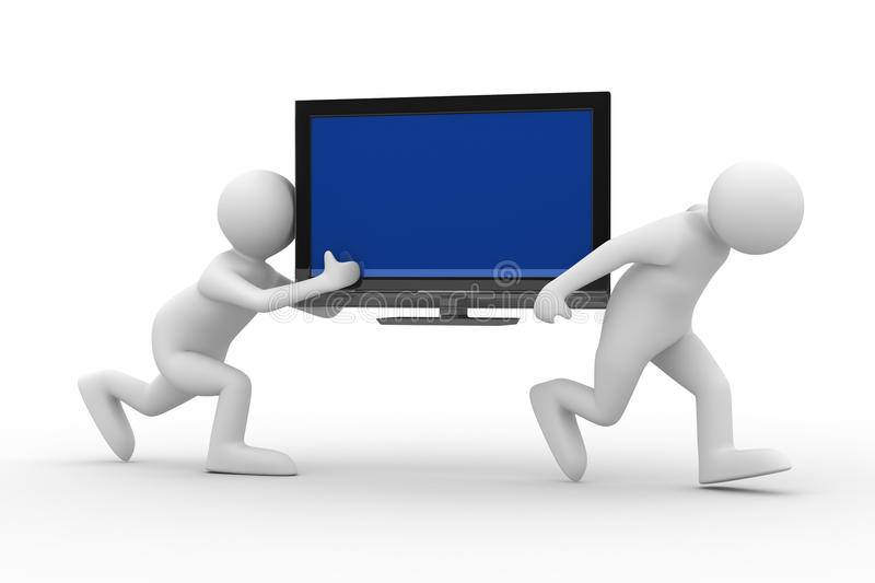 Two Man Carry  TV Stock Image