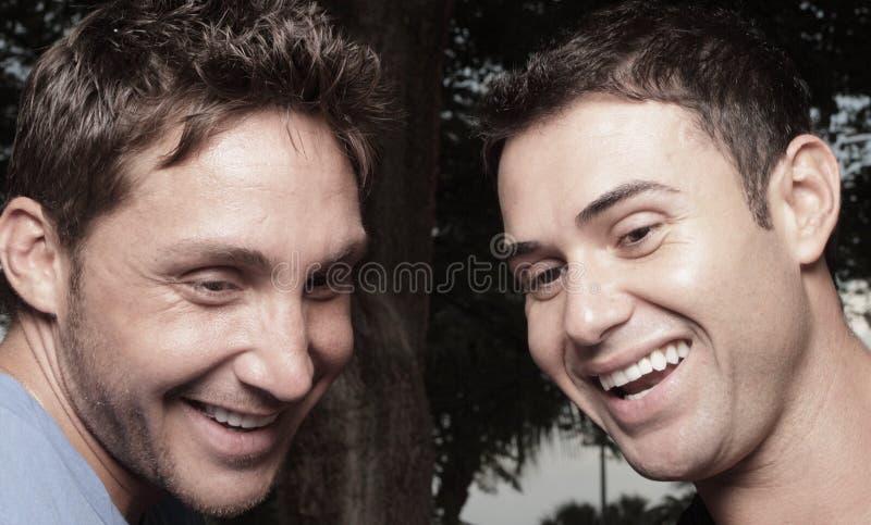 Two man laughing