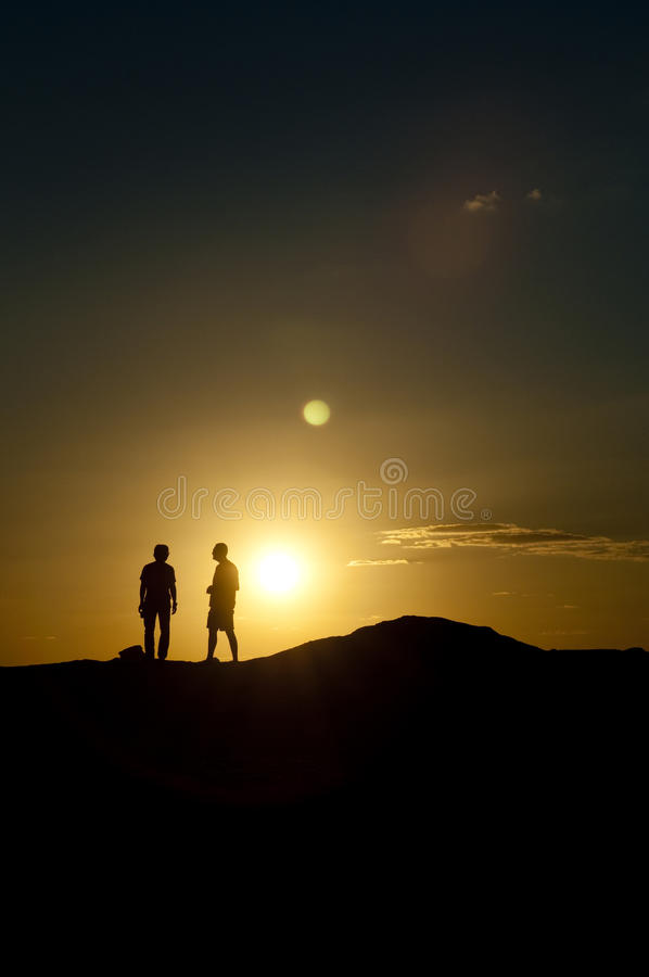 Download Two man at sunset stock photo. Image of future, horizon - 23790194