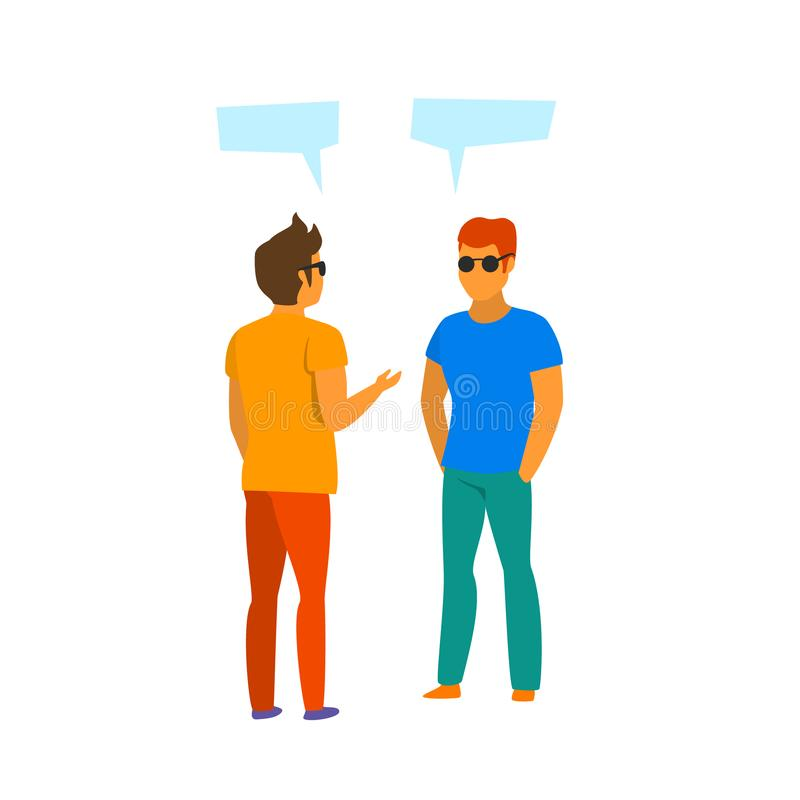 Free Two Man Talking Vector Isolated Royalty Free Stock Photo - 123552305