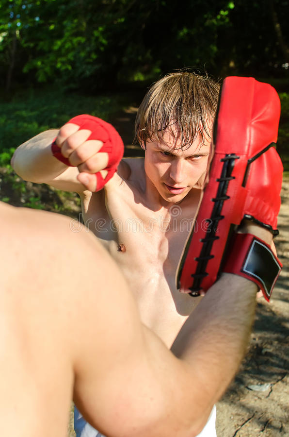 Download Two Man Training Muay Thai Stock Images - Image: 25085904