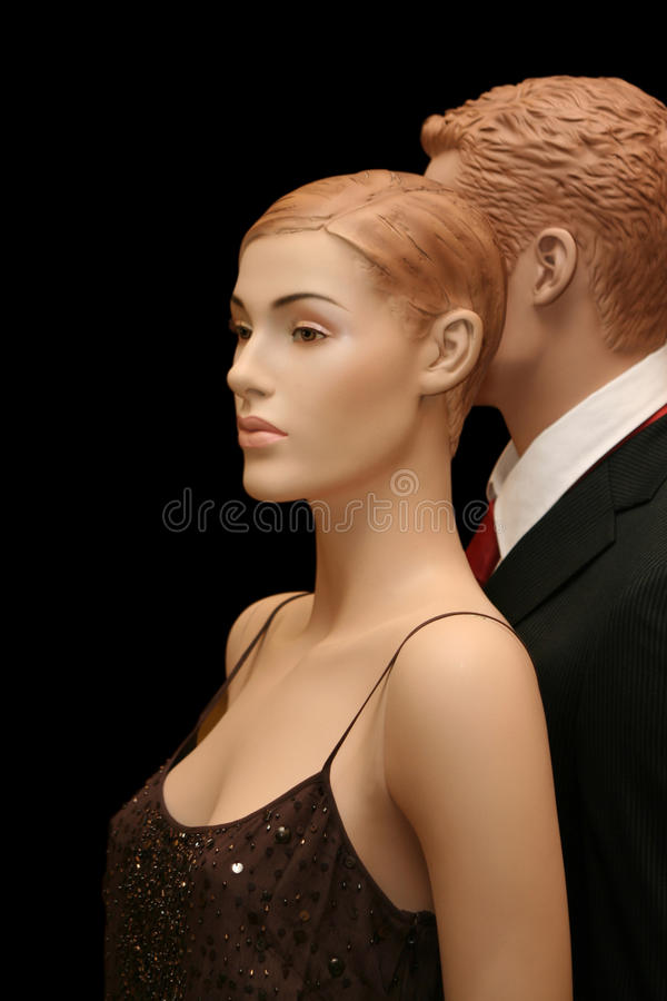 Two mannequins stock photos