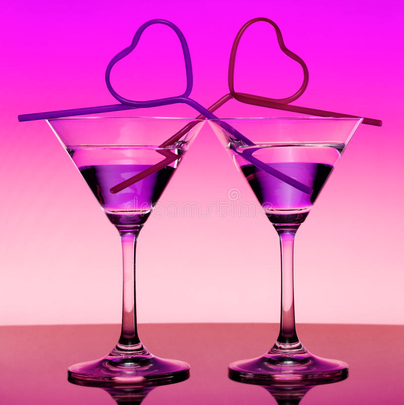 Two Martini royalty free stock photography