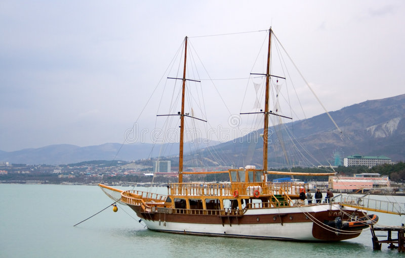 Download Two masted frigate at pier stock image. Image of sleek - 2133533
