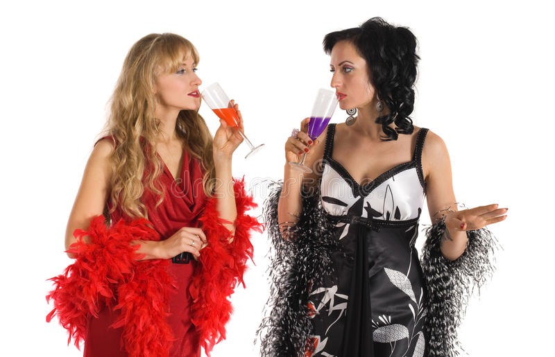 Download Two Mature Woman Drink Color Poison Alcohol Stock Photo - Image: 17881290