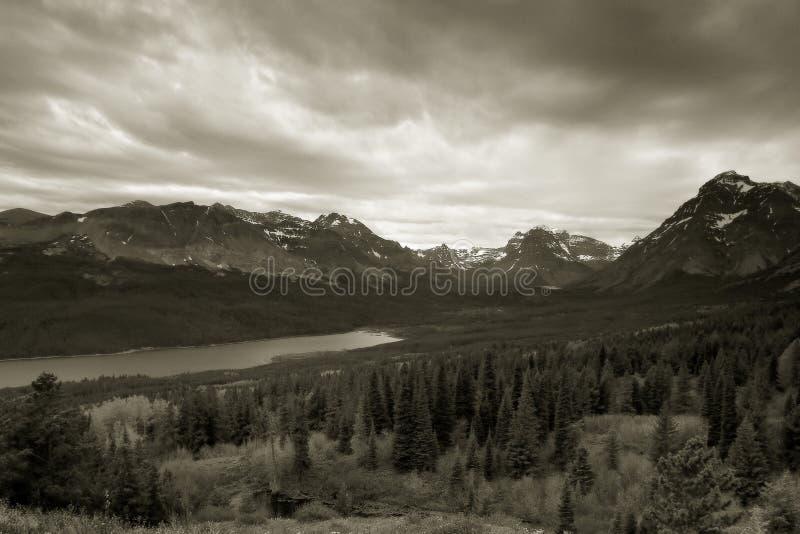 Two Medicine Lake, Glacier National Park stock images