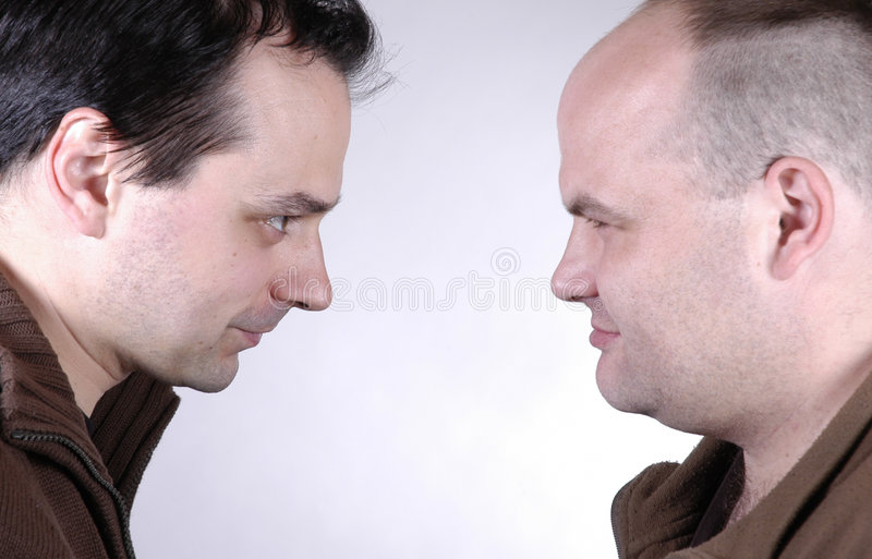 Two men royalty free stock photos