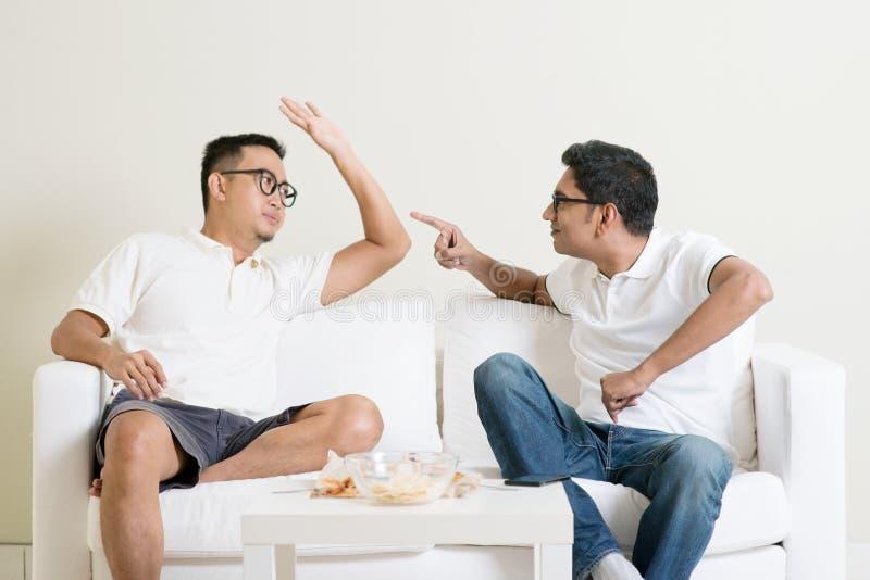 Two men arguing royalty free stock photos