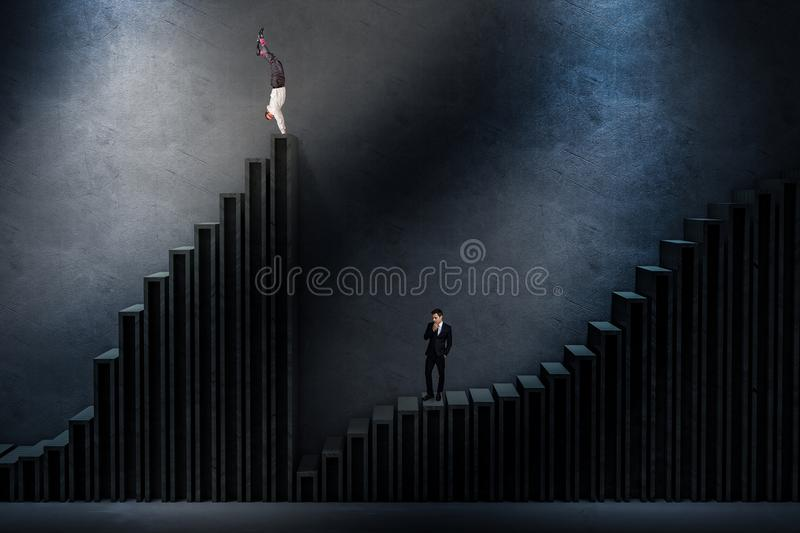 Up and down stock image