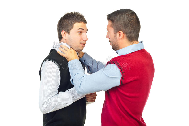 Download Two men fighting stock photo. Image of strangle, friends - 16418574