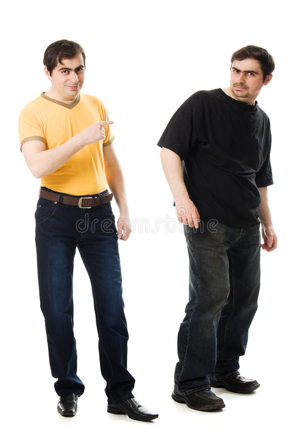 Download Two Men With A Happy And  Sad Stock Image - Image: 26457795